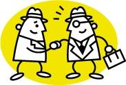 Приветствие клиента и рукопожатие (картинка)